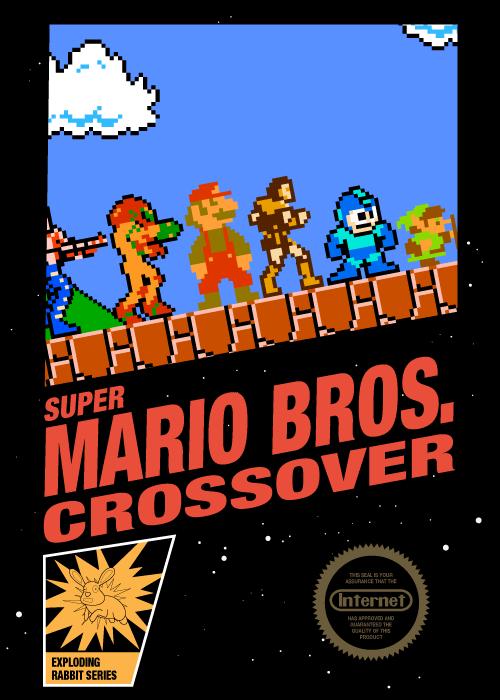 Super Mario Bros Crossover Box Art A Video Games Image